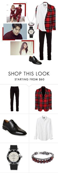 """""""- vapp - Joonyoung duet with Bee"""" by official-june ❤ liked on Polyvore featuring Marcelo Burlon, Versace, Florsheim, Banana Republic, Breitling, Emanuele Bicocchi, David Yurman, men's fashion, menswear and bee"""