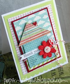 Paper meets glue: Thank You Cards