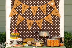 Charlie Brown Thanksgiving Party  inspiration