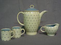 Susie Cooper Pottery | Susie cooper 6 piece coffee service comprising coffee pot, sugar ...