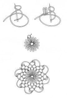 Tuto dentelle a la aiguille - The creations of Salvina - - Filet Crochet, Crochet Motifs, Needle Tatting Tutorial, Needle Tatting Patterns, Lace Embroidery, Embroidery Stitches, Embroidery Patterns, Needle Lace, Bobbin Lace