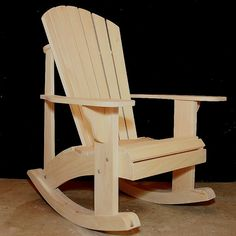 Adirondack Rocking Chair Plans DWG files for by TheBarleyHarvest