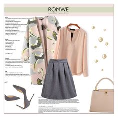 """ROMWE VI/6"" by amra-mak ❤ liked on Polyvore featuring Jimmy Choo, Louis Vuitton, women's clothing, women's fashion, women, female, woman, misses, juniors and romwe"
