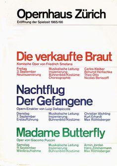 Joseph Müller-Brockmann - Opernhaus Zürich, 1965