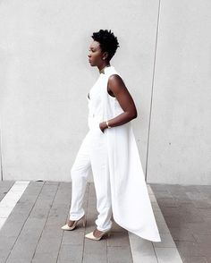 This jumpsuit is by far one of my favorite jumpsuits I have ever… All White, Crisp, Jumpsuits, Normcore, My Favorite Things, Instagram Posts, Dresses, Style, Fashion