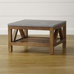 Crate & Barrel Bluestone Square Coffee Table
