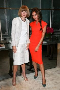 Victoria Beckham, love the color. Anna....um, try something different for a change?