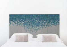 Cabecero de cama - accesorios del hogar - hecho a mano - en DaWanda.es  #cama #bed #pallet #palet #cabecero #diy #handmade