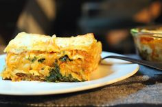 Pumpkin Lasagna with Sausage, Kale and Parmesan. A must try!