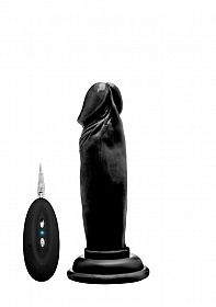 Enjoy the high quality 6 inch vibrating realistic cock, designed with a realistic head as a strong vibration point and veins for extra stimulation. You will be surprised how realistic this dong is! The rock solid suction cup stick to nearly any surface for a good time in your bedroom, bathroom or wherever you like to have sex. So turn your favourite spot into a RealRock fantasy world!