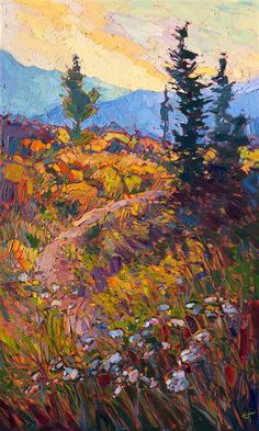 Limited Edition Print - Path in Bloom, painting from the St George Museum National Park exhibition.