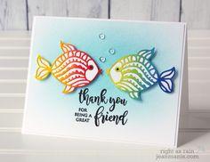 Penny Black Simplicity – Colorful CAS Die-cut Fish