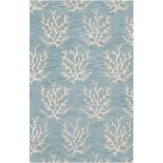 Somerset Bay Hand-Tufted Bacelot Bay Blue Beach-Inspired Wool Area Rug (5' x 8') - Entry?
