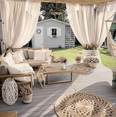 Lounge Set zertifiziertes Holz braun TIMOR - Best My Lounge deas Outdoor Furniture Sets, Decor, Outdoor Decor, House Design, Summer House Design, Balcony Decor, Outdoor Rooms, Backyard Decor