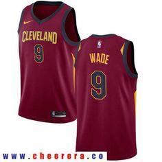 16b28fbc7d96 Men s Nike Cleveland Cavaliers  9 Dwyane Wade Red Stitched NBA Swingman Jersey  Nike Nba Jerseys