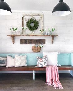 Lolly Jane - Easy do it yourself projects for your home, printables, and more! Backsplash Wallpaper, Wood Wallpaper, Painting Tile Floors, Painting Concrete, Painted Mason Jars, Mason Jar Diy, Peel And Stick Shiplap, Striped Accent Walls, Mold In Bathroom