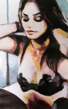 """Saatchi Online Artist: thomas saliot; Oil, 2013, Painting """"the necklace"""""""