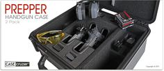 Quick Draw Prepper Handgun Case - Universal 2 Pack