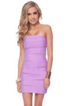 What a Mesh Bandage Dress in Lavender :: tobi    Love this color