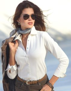 Classic white shirt and scarf