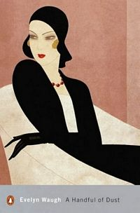Art Decó flapper ~ 'A Handful of Dust' cover ~ Evelyn Waugh