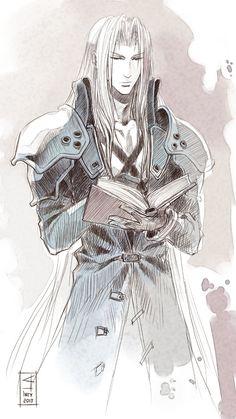 Sephiroth_sketch by AnHellica.deviantart.com on @deviantART