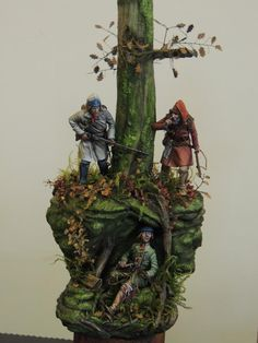 Great diorama of a Ranger in trouble being hunted by French Marines.  I like this one since I do a Rogers Rangers interpretation in my living history hobby