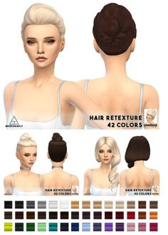 Miss Paraply: Clay hairstyle retextured  - Sims 4 Hairs - http://sims4hairs.com/miss-paraply-clay-hairstyle-retextured/