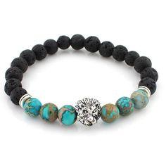 GD GOOD.designs Handmade Gemstone Matte Black Onyx Bead Chakra Bracelet for Men and Women