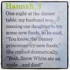 Smart kid!