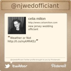 @njwedofficiant's Twitter profile courtesy of @Pinstamatic (http://pinstamatic.com)