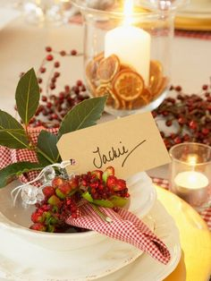 Holiday decor ideas... What pretty a napkin ring idea, beautiful any time of year