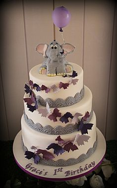 Butterfly and elephant cake #butterfly #cake