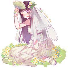 hinatat in her wedding gown Naruto Uzumaki, Boruto, Hinata Hyuga, Naruhina, Clan Uzumaki, Narusaku, Anime Naruto, Sasuke, Naruto Family