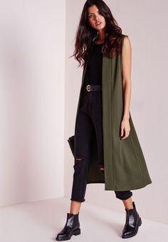 Sleeveless Blazer -Khaki Missguided Jackets | Superbalist.com