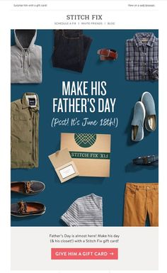 Email Marketing Software, Email Marketing Design, Email Marketing Campaign, E-mail Marketing, Marketing Ideas, Father Day Ad, Fathers Day Poster, Fathers Day Sale, Happy Father