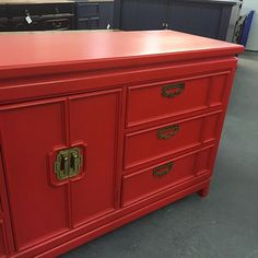 Everyone needs a pop of color!  #Regram via @www.instagram.com/p/6x69f_NnE6/ Red Painted Furniture, Furniture Ideas, Color Pop, Cabinet, Storage, Instagram, Home Decor, Clothes Stand, Purse Storage