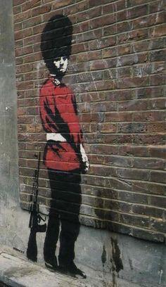 Banksy Guardsman On Wall Steel Fridge Magnet (Se) #ebay #Collectibles