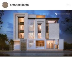 Unbelievable Modern Architecture Designs – My Life Spot Modern Architecture House, Islamic Architecture, Facade Architecture, Villa Design, Facade Design, Exterior Design, Architect House, Architect Logo, House Front Design