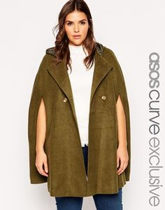 ASOS CURVE Exclusive Brushed Wool Cape