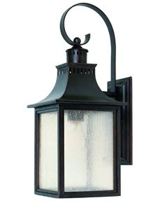 Heritage Monte Grande Single-Light Traditional Outdoor Wall Lantern with Pale Cream Seeded Glass, Finished in English Bronze  Option for outdoor light fixtures (2 on back porch, 2 on front upstairs porch)