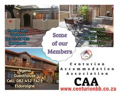 Some of our members in Centurion. Bed And Breakfast, Outdoor Decor, Travel, Home, Viajes, Ad Home, Destinations, Traveling, Homes
