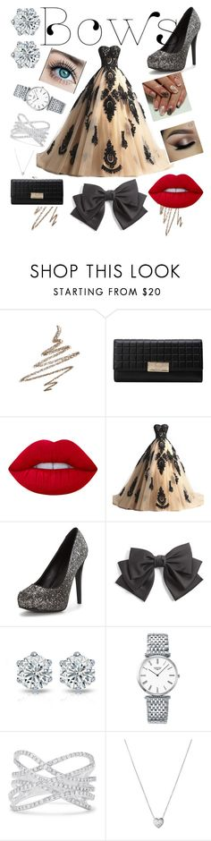 """""""Bows"""" by maryamsaeed1 ❤ liked on Polyvore featuring Anastasia Beverly Hills, Lime Crime, Cara, Longines, Effy Jewelry and Links of London"""