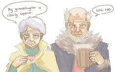 Grandpa laxus and jellal