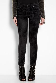 Vivienne Westwood Anglomania by Lee | Black Velvet Burnt Out Skinny Jean by Vivienne Westwood Angl - StyleSays