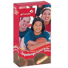 Girl Scout Cookies Tagalongs Cookies Topped with Creamy Peanut Butter Covered in Chocolate - 1 Box of 15 Cookies Best Girl Scout Cookies, Peanut Patties, Tagalong Cookies, Cookie Time, Creamy Peanut Butter, Diet And Nutrition, Girl Scouts, Gourmet Recipes, Bakery