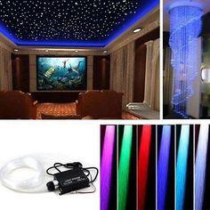 LED Sternenhimmel Glasfaser Lichtfaser 240 Lichtpunkte Leuchten 5W Dimmbar RGB