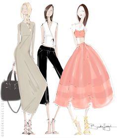 Fabulous Doodles Fashion Illustration blog by Brooke Hagel: Stylus Sketching with Samsung & Macys