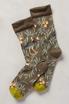 Plumage Crew Socks - anthropologie.com