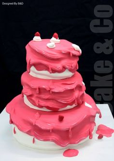 Pink Melting Cake by ART'CAKE & CO